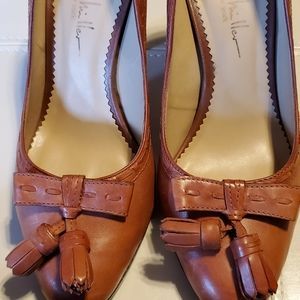 Nicole Miller New York Tan Leather Heels
